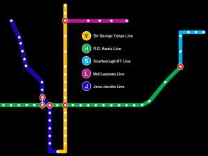 Subway map illustrating proposed name changes