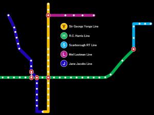 Subway map illustrating proposed name changes